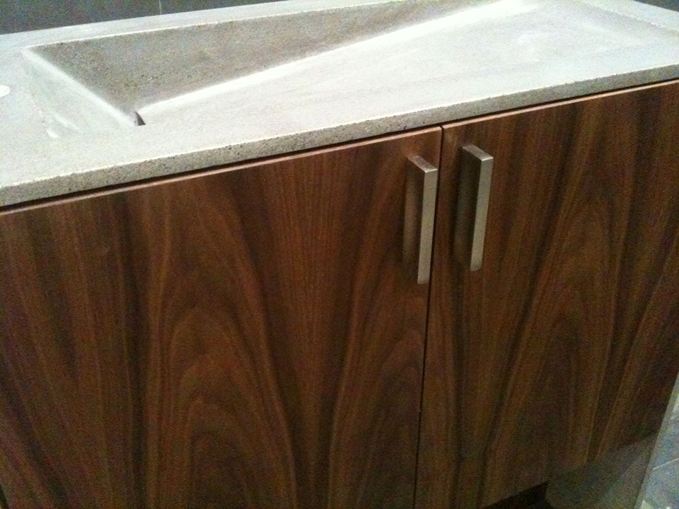 Mag's Concrete Works, concrete countertop sink cabinet