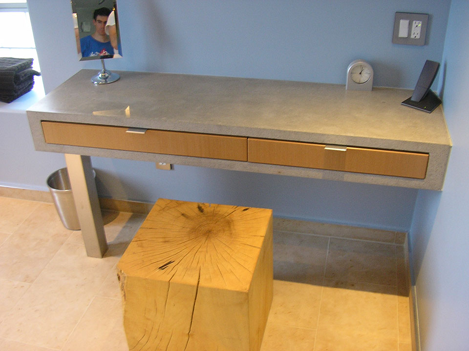 Mag's Concrete Works, concrete table desk