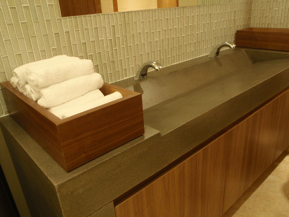 Mag's Concrete Works, concrete countertop double sinks