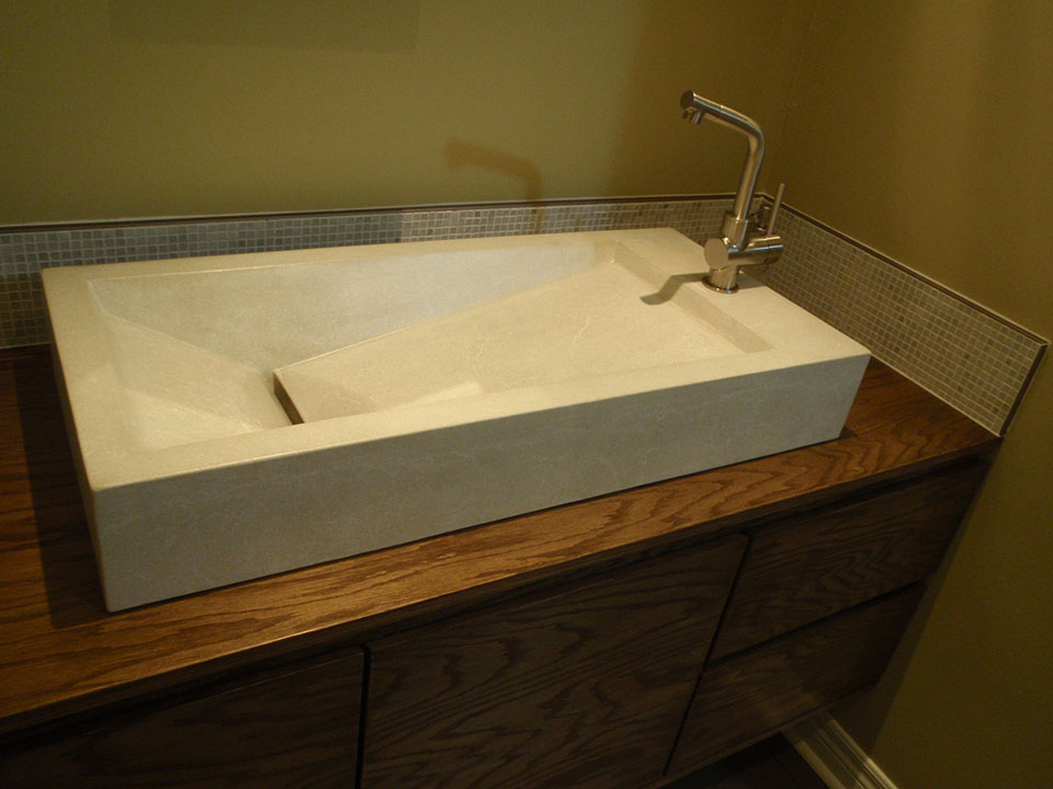 Mag's Concrete Works, concrete countertop sink