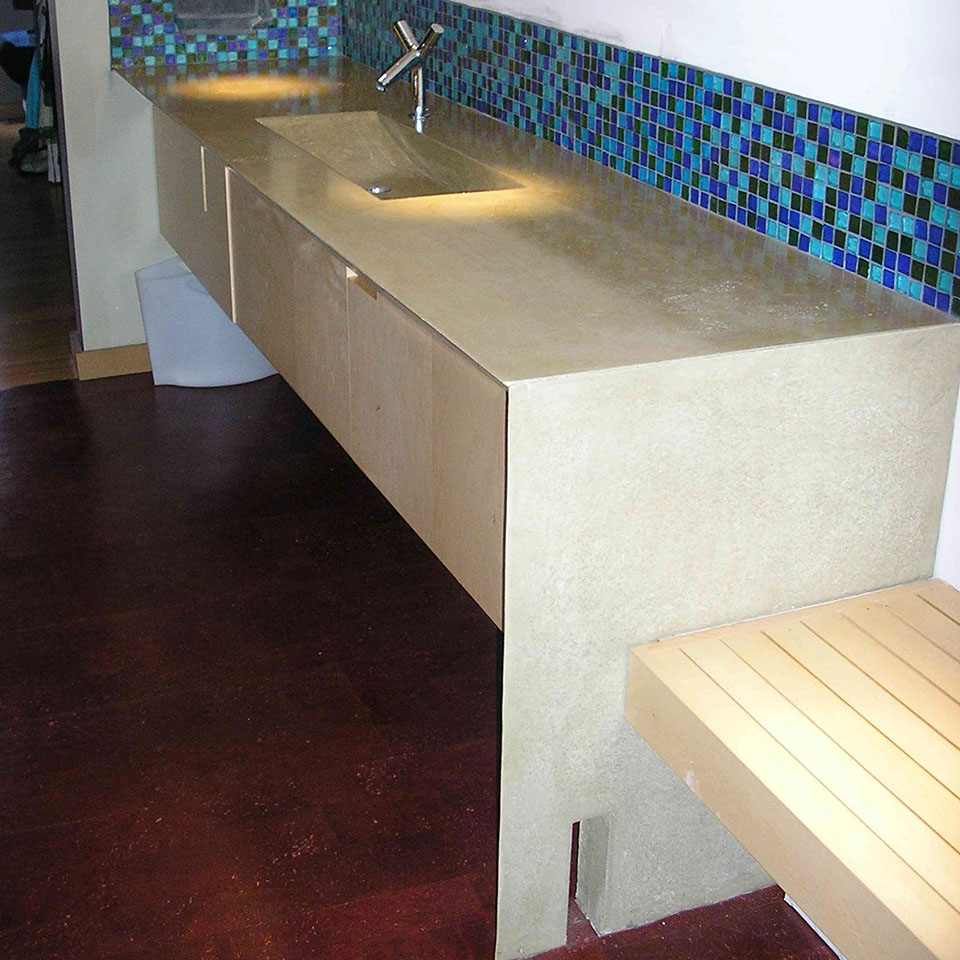 Mag's Concrete Works, concrete countertop curran sink