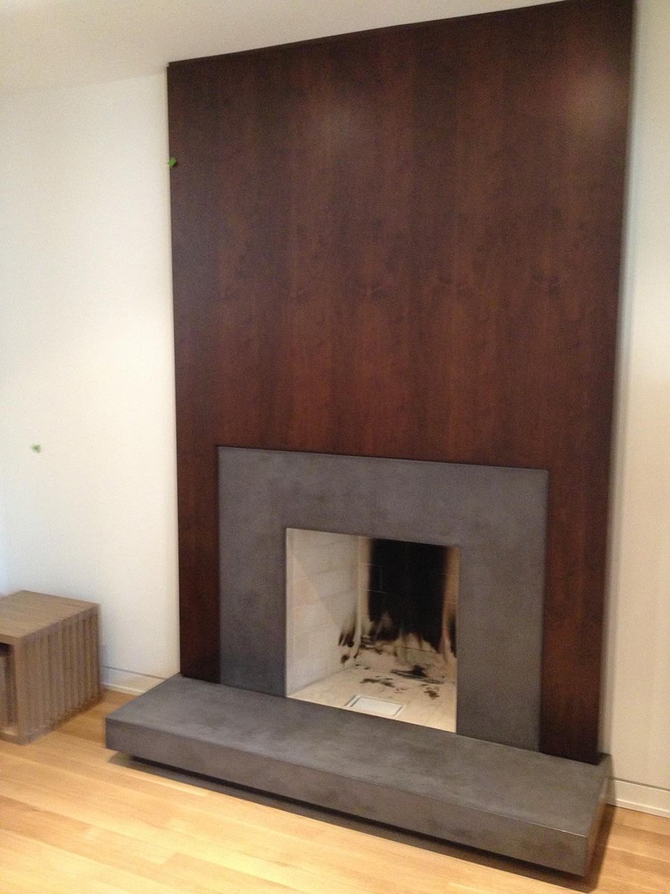Another residential fireplace installation