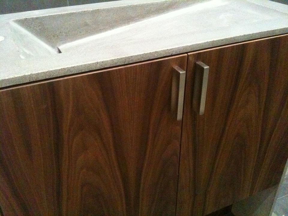 Mag's Concrete Works, concrete countertop sink cabinet