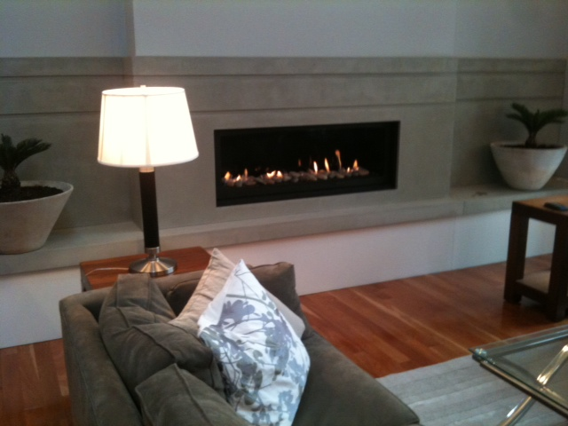Mag's Concrete Works, concrete fireplace
