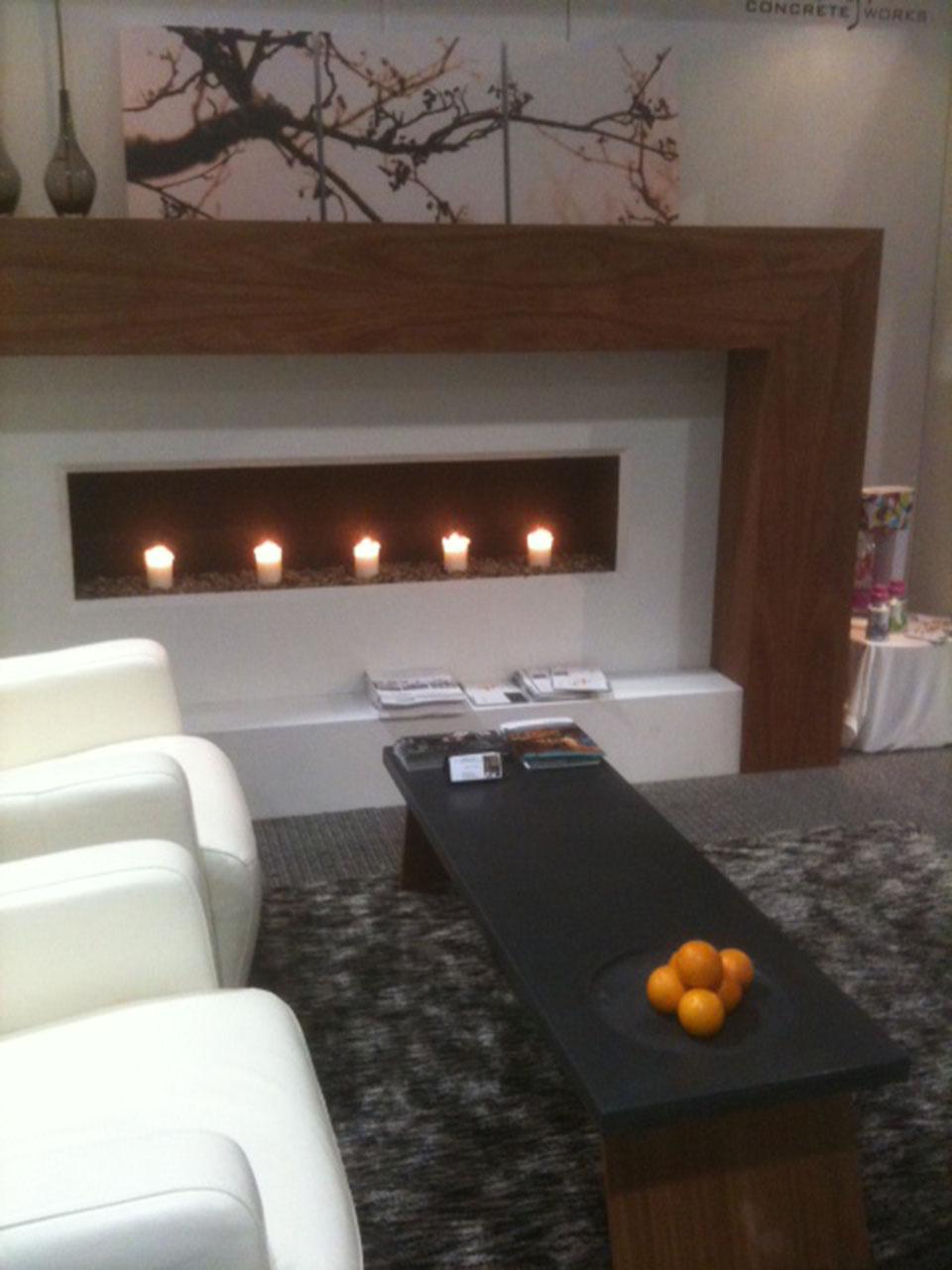Mag's Concrete Works, concrete fireplace IDS